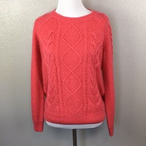Coral knitted sweater